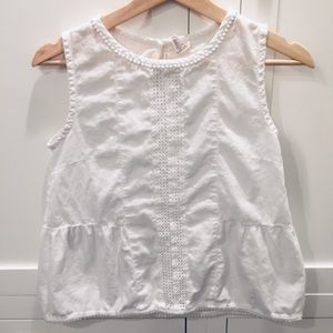 Crewcuts embellished sleeveless top